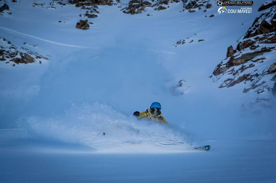 Courmayeur Mont Blanc Funivie Facebook. Lorenzo Belfrond Photography - skier Aiace Bazzana